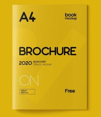 A4 Book Brochure Mockup