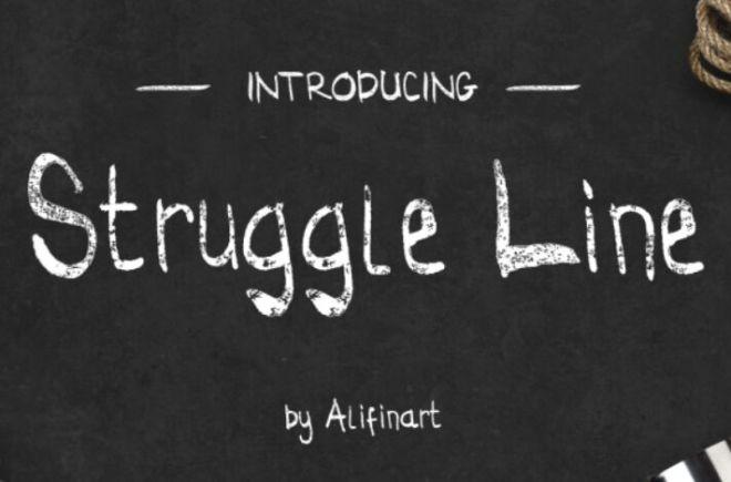 Struggle Line Font
