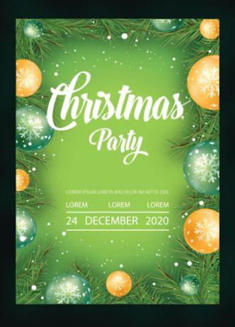 Christmas 2020 Flyer Template Vector