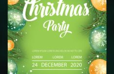 Christmas 2020 Flyer Template Vector