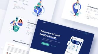 Medical App Landing Page Design Sketch