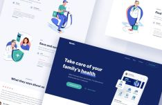 Medical App Landing Page Design Sketch