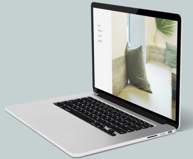 Realistic MacBook Pro Mockup (Side View)