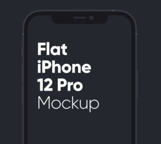 Flat iPhone 12 Pro Mockup For Sketch