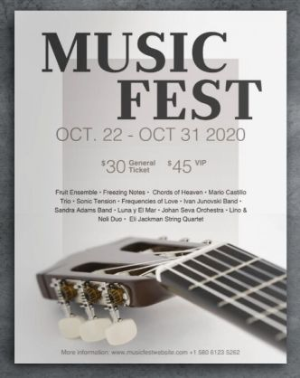 Music Event Poster PSD Mockup