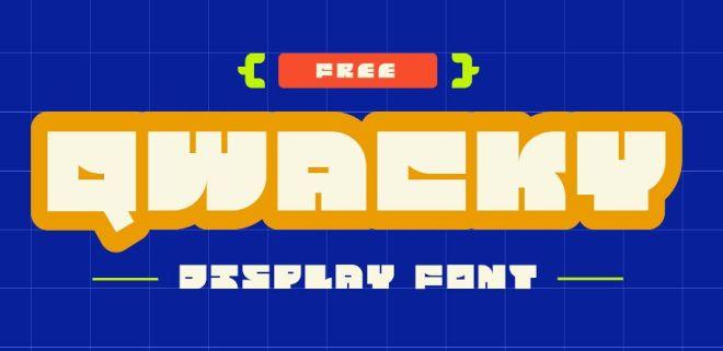 Qwacky Display Font