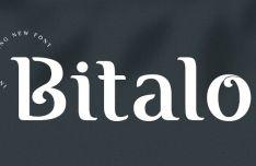 Bitalo Fancy Font