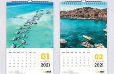 2021 Wall Calendar For Adobe InDesign