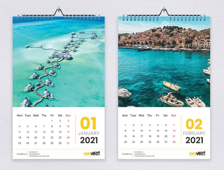 Images of Adobe Indesign Calendar Template 2021