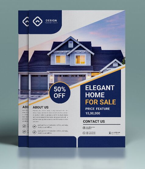 Real Estate Business Flyer Vector Template