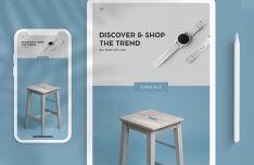 iPad & iPhone Clay PSD Mockup