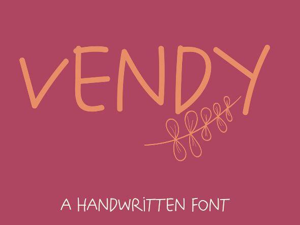 Vendy Handwritten Font