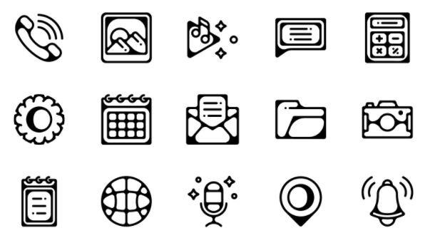 Essential Mobile App Icons Vector