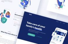 Medical Website & Web App Sketch Template