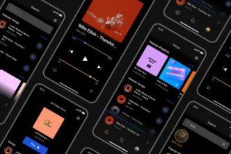 Dark Music App Design Figma