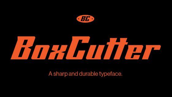 BoxCutter Bold Display Font