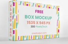 High-resolution Box Packaging Mockup PSD