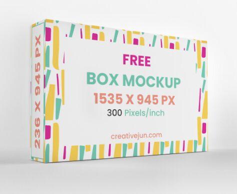 High-resolution Box Packaging Mockup PSD