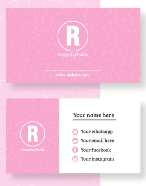 Minimal Editable Business Card Vector Template