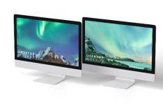 Realistic Desktop (iMac) PSD Mockup