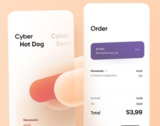 Minimal Modern Food App UI Design Figma