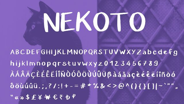 Nekoto Font