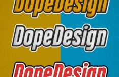 Cartoonish Text Effect For Photoshop