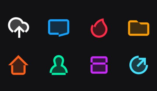 8 Colorful Vector Icons