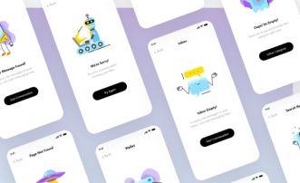 Mobile App Empty State UI Design XD