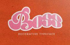 Boss Decorative Typeface