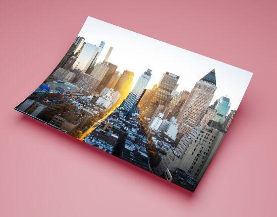 Landscape Portrait A3 Paper PSD Mockup