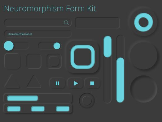Neuromorphism Form UI Kit Figma