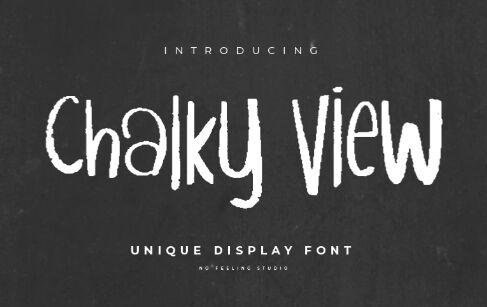 Chalky View Display Font