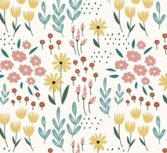 Pastel Floral Pattern Collection Vector