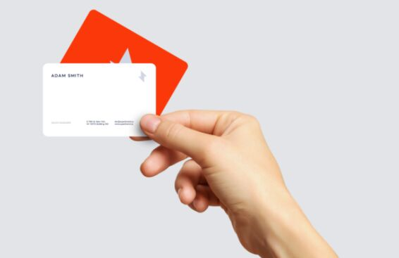 Business Card In Hand PSD Mockup