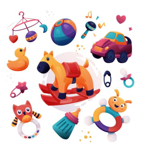 Baby Toys Illustrations Vector