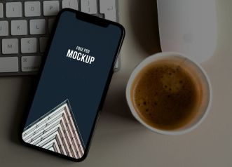 Modern iPhone 12 Mockup For Photoshop