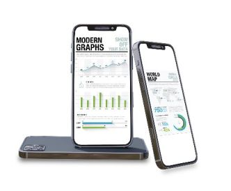 4 Smartphone (iPhone 12) PSD Mockups