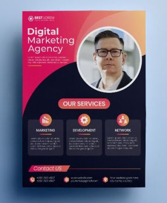 Digital Marketing Agency Flyer Template PSD