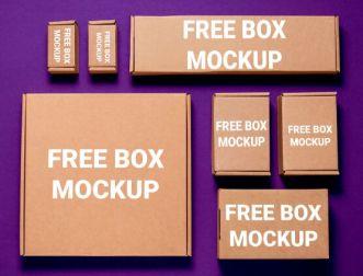 Corrugated Cardboard Box Mockup