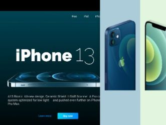 iPhone 13 Landing Page Figma Template