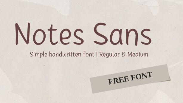 Notes Sans Handwritten Font