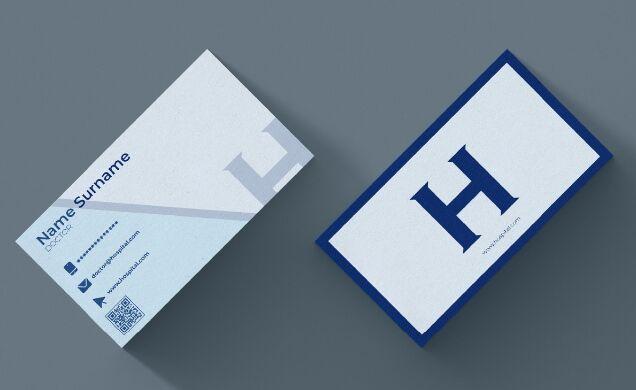 Hospital Business Card Vector Mockup