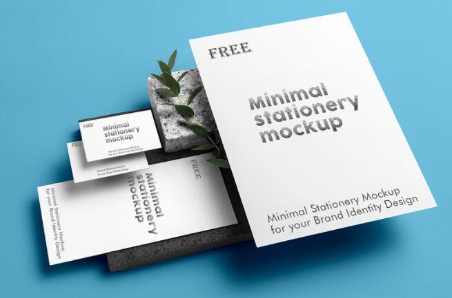 5 Minimal Stationery Mockups PSD