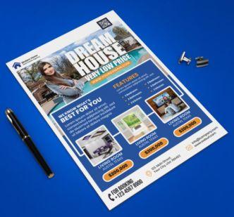 Real Estate Flyer Design Template PSD