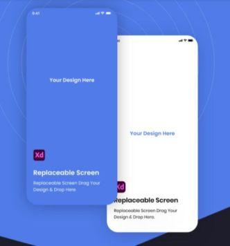 Mobile App Screen Presentation Adobe XD