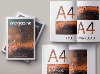 Easy A4 Magazine Mockup PSD Mockup