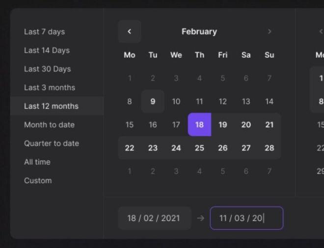 Date Picker UI Component Figma