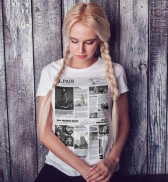 Spain Newspaper T-shirt Design PSD