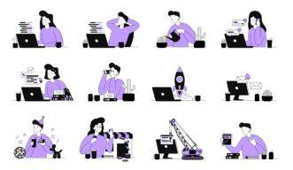 12 E-commerce Vector Illustrations